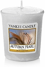 Fragrances, Perfumes, Cosmetics Scented Candle - Yankee Candle Scented Votive Autumn Pearl