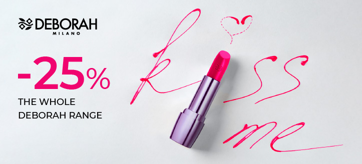 25% off the whole Deborah range. Prices on the site are indicated with a discount