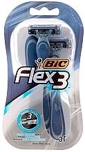 """Fragrances, Perfumes, Cosmetics Men Shaving Razor """"Flex 3 Comfort"""", 3 pcs - Bic"""