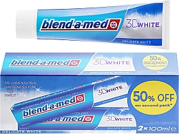 """Fragrances, Perfumes, Cosmetics Toothpaste Set """"Delicate Whitening"""" - Blend-a-med 3D White Delicate White Toothpaste"""