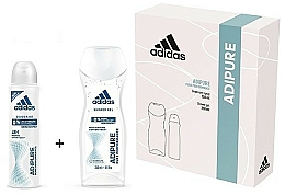 Fragrances, Perfumes, Cosmetics Set - Adidas Adipure Woman (deo/spray/150ml + sh/gel/250ml)