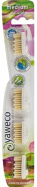 Replaceable Toothbrush Heads Medium - Yaweco Replaceable Toothbrush Brush Heads Natural Medium