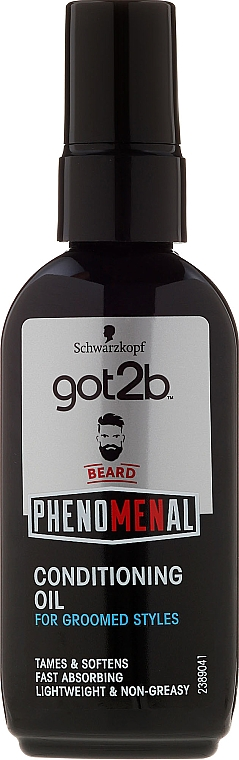 Beard Oil - Schwarzkopf Got2b Phenomenal Beard Conditioning Oil