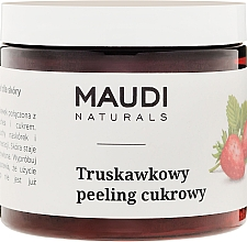 "Fragrances, Perfumes, Cosmetics Body Sugar Scrub ""Strawberry"" - Maudi"