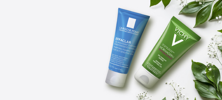 When buying special offer products from Vichy, get Normaderm gel for free. When buying special offer products from La Roche-Posay, get Effaclar gel for free.