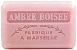 "Fragrances, Perfumes, Cosmetics Marseilles Soap ""Wood Amber"" - Foufour Savonnette Marseillaise Ambre Boisee"