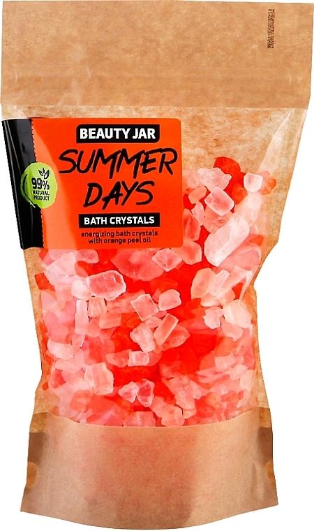 Energizing Bath Crystals with Orange Peel Oil - Beauty Jar Summer Days Energizing Bath Crystals with Orange Peel Oil
