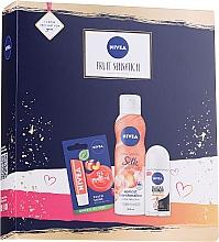 Fragrances, Perfumes, Cosmetics Set - Nivea Fruit Sensation Set (sh/mousse/200ml + deo/roll-on/50ml + lip/balm/5.5ml)