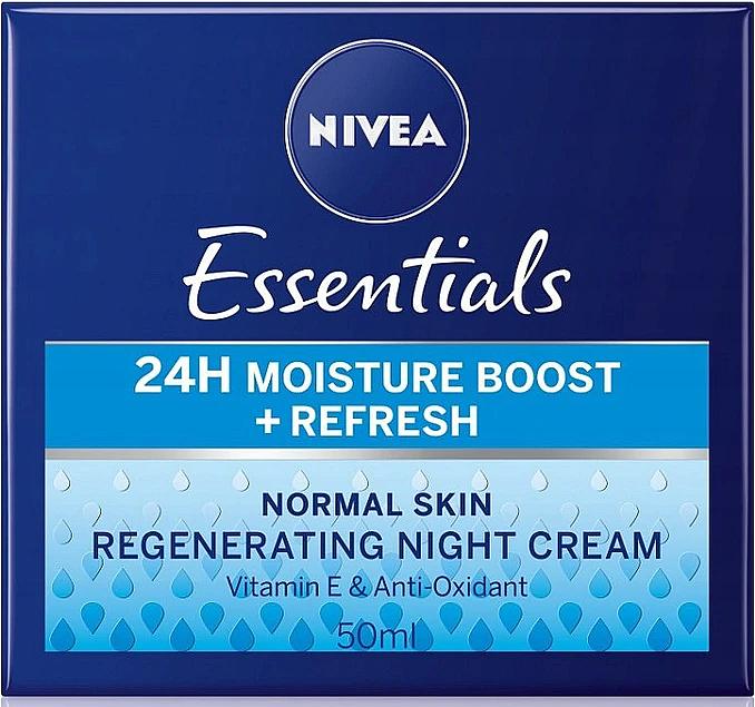 Night Cream for Normal Skin - Nivea Essentials 24H Moisture Boost + Refresh Cream