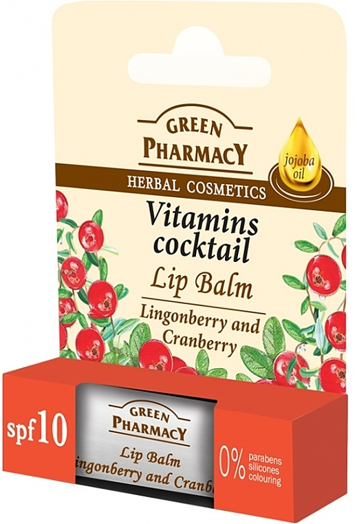 """Lip Balm """"Lingonberry and Cranberry"""" - Green Pharmacy Lip Balm With Lingonberry And Cranberry"""