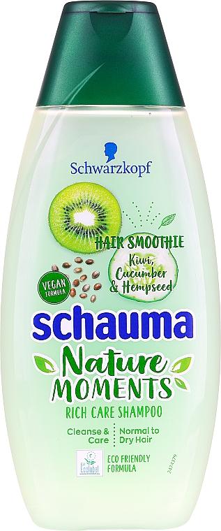 "Normal & Slightly Dry Hair Smoothie-Shampoo ""Kiwi & Cucumber"" - Schauma Hair Smoothie Shampoo"