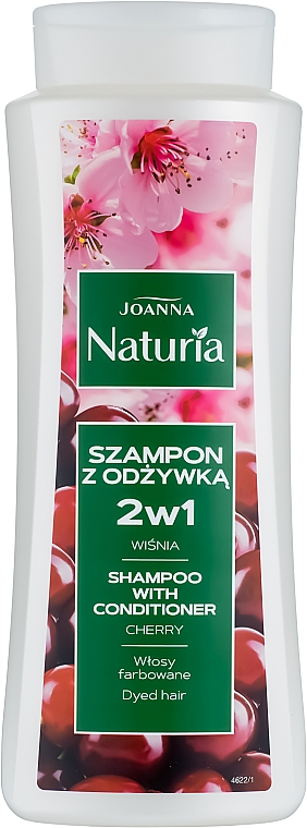 Cherry Shampoo-Conditioner for Colored Hair - Joanna Naturia Shampoo With Conditioner With Cherry