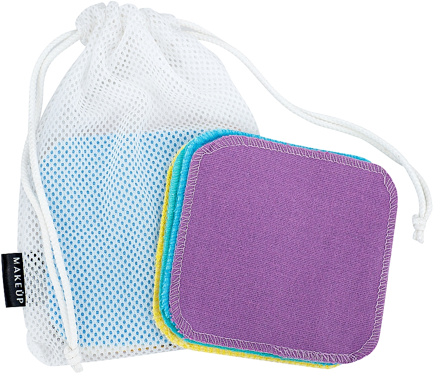 """Reusable Makeup Remover Sponge in Wash Pouch """"ToFace"""" - Makeup Remover Sponge Set Multicolour & Reusable"""
