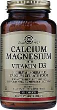 """Fragrances, Perfumes, Cosmetics Dietary Supplement """"Calcium, Magnesium with Vitamin D3"""" - Solgar Calcium Magnesium with Vitamin D3"""