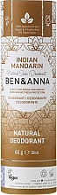 "Fragrances, Perfumes, Cosmetics Soda Deodorant ""Indian Mandarin"" (paper tube) - Ben & Anna Natural Soda Deodorant Paper Tube Indian Mandarine"