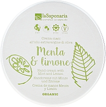 "Fragrances, Perfumes, Cosmetics Hand Cream ""Mint and Lemon"" - La Saponaria Hand Cream Mint and Lemon"