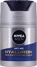 Fragrances, Perfumes, Cosmetics Anti-Aging Moisturizing Hyaluronic Acid Cream - Nivea Men Anti-Age Hyaluron Face Moisturizing Cream SPF 15
