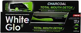 Fragrances, Perfumes, Cosmetics Set - White Glo Charcoal Total Mouth Detox (toothpaste/150g + toothbrush)