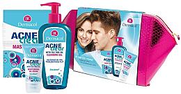 Fragrances, Perfumes, Cosmetics Set - Dermacol Acneclear (clean/gel/200ml + gel/cr/50ml + f/mask/2x8ml)