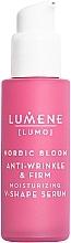 Fragrances, Perfumes, Cosmetics Firming and Lifting Face Serum - Lumene Lumo Nordic Bloom Anti-wrinkle & Firm Moisturizing V-Shape Serum