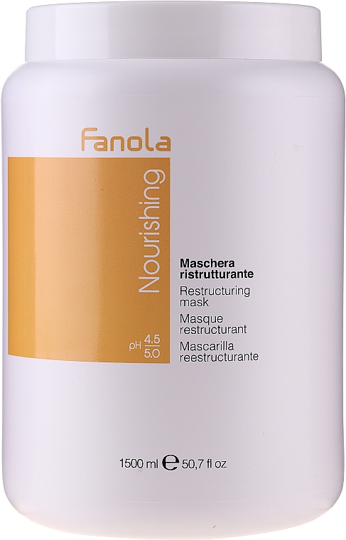 Repairing and Nourishing Mask for Dry and Brittle Hair - Fanola Nourishing Restructuring Mask