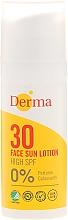 Fragrances, Perfumes, Cosmetics Face Sunscreen Lotion - Derma Sun Face Cream SPF30 High