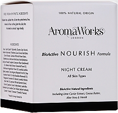 Fragrances, Perfumes, Cosmetics Nourishing Night Cream - AromaWorks Nourish Night Cream