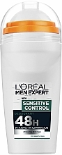 Fragrances, Perfumes, Cosmetics Roll-On Deodorant - L'Oreal Paris Men Expert Sensitive Control 48H Deo Roll-On