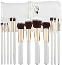 Fragrances, Perfumes, Cosmetics Professional Makeup Brushes Set, white, 12 pcs - Tools For Beauty