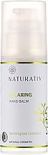 Fragrances, Perfumes, Cosmetics Moisturizing Hand Cream - Naturativ Relaxing Hand Balm Lemongrass
