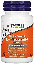 """Fragrances, Perfumes, Cosmetics Dietary Supplement """"L-Theanine"""", 200mg - Now Foods L-Theanine Double Strength Veg Capsules"""