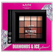 Fragrances, Perfumes, Cosmetics Set - NYX Professional Makeup Diamonds & Ice Please Shadow & Liner Set (sh/palette/16x1.18g+liner/2ml)