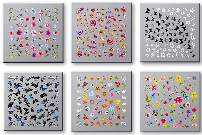 Nail Decoration Stickers Set 42751 - Top Choice Nail Decorations Stickers Set