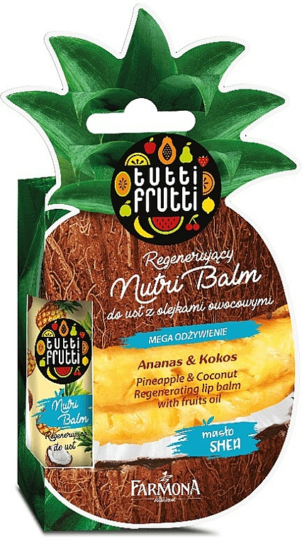 """Lip Balm """"Pineapple and Coconut"""" - Farmona Tutti Frutti Regenerating Lip Balm Pineapple & Coconut"""