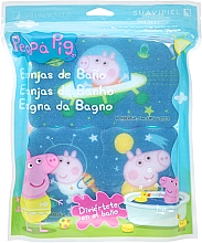 "Fragrances, Perfumes, Cosmetics Bath Sponge Set ""Peppa Pig"" 3pcs, space - Suavipiel Peppa Pig Bath Spong"