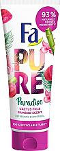 "Fragrances, Perfumes, Cosmetics Shower Gel ""Cactus & Bamboo"" - Fa Pure Paradise Shower Gel Cactus & Bamboo"