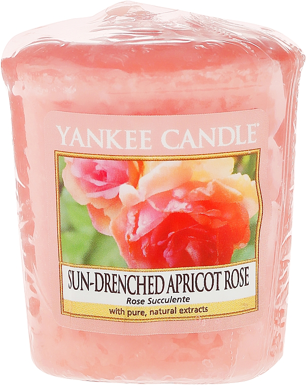 """Scented Candle """"Rose"""" - Yankee Candle Sun-Drenched Apricot Rose Votive"""