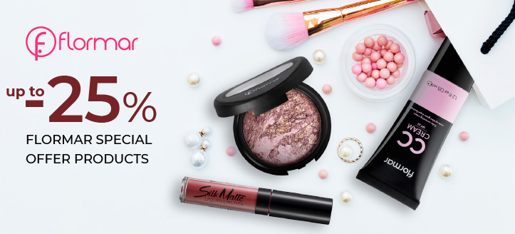Up to 25% off Flormar special offer products. Prices on the site already include a discount