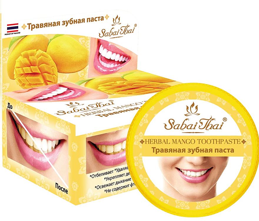 Mango Toothpaste - Sabai Thai Herbal Mango Toothpaste