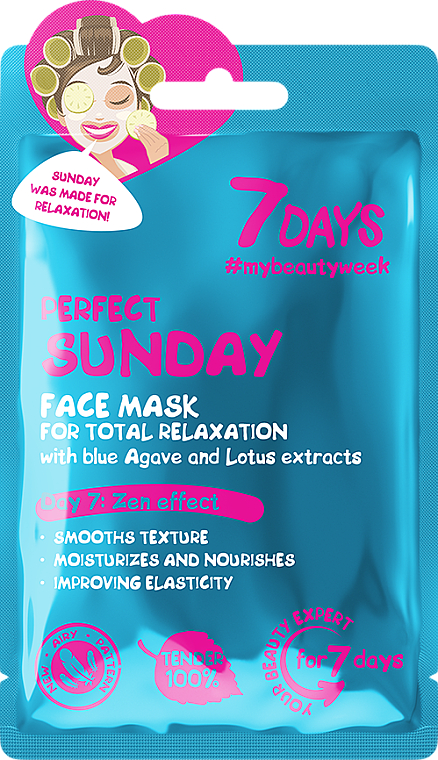 """For Total Relaxation Face Mask """"Perfect Sunday"""" - 7 Days Perfect Sunday — photo N1"""