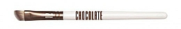 Fragrances, Perfumes, Cosmetics Makeup Brush - Novara Chocolate No. 12 Taklon Banana Shape Brush