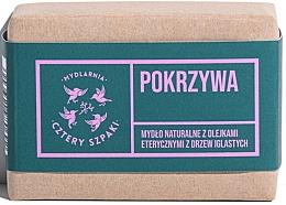 Fragrances, Perfumes, Cosmetics Natural Nettle Soap with Coniferous Essential Oils - Cztery Szpaki With Coniferous Essential Oils