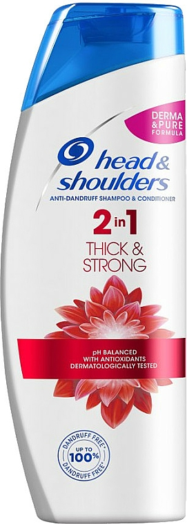 """Anti-Dandruff Shampoo-Conditioner 2in1 """"Thick & Strong"""" - Head & Shoulders Thick & Strong — photo N1"""
