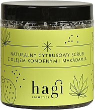 Fragrances, Perfumes, Cosmetics Natural Citrus Scrub with Hemp and Macadamia Oils - Hagi Scrub