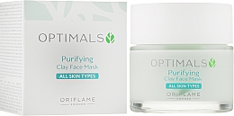 Fragrances, Perfumes, Cosmetics Cleansing Clay Mask for All Skin Types - Oriflame Optimals Purifying Clay Face Mask