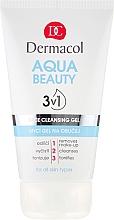 Fragrances, Perfumes, Cosmetics Facial Washing Gel - Dermacol Aqua Beauty 3v1 Face Cleansing Gel