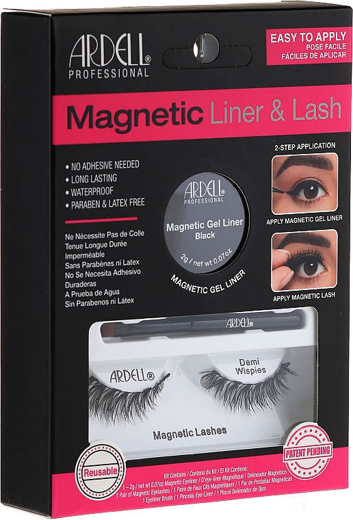 Set - Magnetic Lash & Liner Lash Demi Wispies (eye/liner/2g + lashes/2pc)