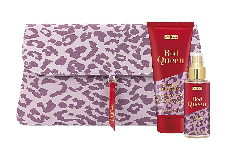 Set - Pupa Red Queen 001 (bag + Milk/200 ml+edt/100ml) — photo N1