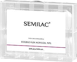 Fragrances, Perfumes, Cosmetics Nail Extension Tips - Semilac Double Flex Acrylgel Dual Tips