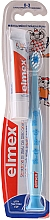 Fragrances, Perfumes, Cosmetics Kids Toothbrush (0-3 years), blue with giraffe - Elmex Learn Toothbrush Soft + Toothpaste 12ml